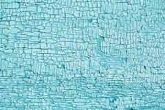 Ljus - blå textur av gammal sprucken målarfärg Royaltyfri Bild