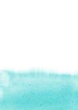 Ljus - blå vattenfärgbakgrund Fotografering för Bildbyråer