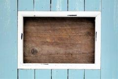 Ljus - blått färgad ram med utrymme för text Royaltyfri Foto