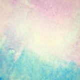 Ljus - blått målad vattenfärgbakgrund Fotografering för Bildbyråer
