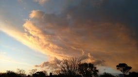 Ljus - blått och apelsin Arkivfoto