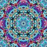 Ljus blått- och lilahand-teckning dekorativ blom- abstrakt sömlös bakgrund med många detaljer för design av siden- neckerchie Fotografering för Bildbyråer