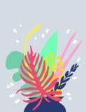 Ljus blom- kortdesign Royaltyfri Fotografi