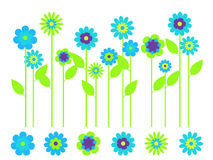 ljus blommaträdgårdfjäder Royaltyfria Bilder