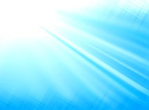 Ljus - blått rays bakgrund Royaltyfria Bilder