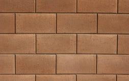 Ljus - brun tegelstenvägg Fotografering för Bildbyråer