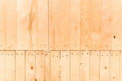 Ljus - brun wood panelbakgrund Arkivfoton