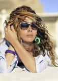 Ljus - brunt hår Royaltyfri Fotografi