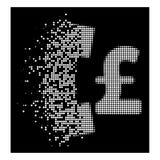Ljus bruten Dot Halftone Pound Pay Phone symbol stock illustrationer