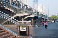 LJUS bussstation Royaltyfri Bild