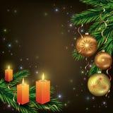 Ljus celebratory julkort Arkivbilder