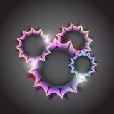 Ljus cirkel för rengöringsdukdesign vektor Arkivbilder