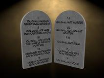 10 ljus 3d för minnestavlor för gudcommandmentsstenar framför tolkningen Arkivbilder