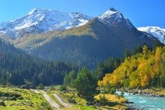 Ljus dag i berg Fotografering för Bildbyråer