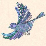 Ljus dekorativ fågel Arkivfoto