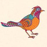 Ljus dekorativ fågel Arkivfoton