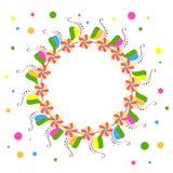 Ljus dekorativ rund ram Royaltyfri Foto
