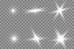 Ljus effekt för genomskinligt glöd arkivbild