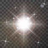 Ljus effekt för glöd royaltyfri illustrationer