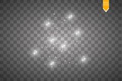 Ljus effekt för glöd också vektor för coreldrawillustration Julexponering damm Arkivbild