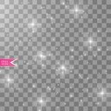 Ljus effekt för glöd också vektor för coreldrawillustration Julexponering damm Royaltyfri Foto