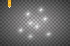 Ljus effekt för glöd också vektor för coreldrawillustration Julexponering damm Royaltyfri Bild