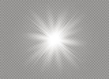Ljus effekt för glöd Stjärnabristningen med mousserar också vektor för coreldrawillustration Arkivbilder