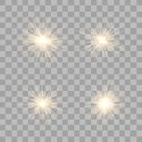 Ljus effekt för guld- glöd royaltyfri illustrationer