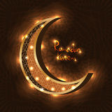 Ljus effekt för islamRamadanmåne Arkivfoton