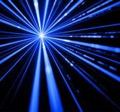 Ljus effekt för laserstråle arkivbild