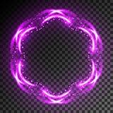 Ljus effekt för neon Arkivbild
