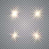 Ljus effekt f?r gl?d stock illustrationer