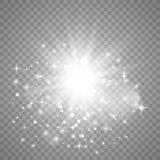 Ljus effekt f?r gl?d vektor illustrationer