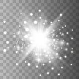Ljus effekt f?r gl?d royaltyfri illustrationer
