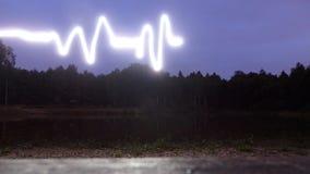 Ljus ekg Arkivfoton