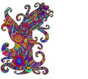 Ljus etnisk mångfärgad modell, dekorativ abstrakt backgrou vektor illustrationer