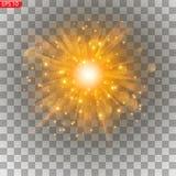 Ljus exponering av solen, royaltyfri illustrationer