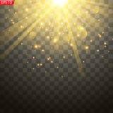 Ljus exponering av solen, vektor illustrationer