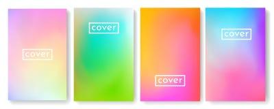 Ljus färgbakgrund med ingreppslutningtextur för broschyren, broschyr, reklamblad, räkning, katalog Blått, rosa, gult grönt plakat stock illustrationer