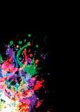 ljus färgglad designfärgpulversplat Arkivbilder