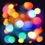 Ljus färgrik bakgrund för bokehvektorabstrakt begrepp Royaltyfri Bild