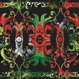 Ljus färgrik blom- barock sömlös gränsmodell Dekorativ antik bakgrund för vektor Abstrakt elegansbarock för tappning stock illustrationer