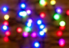Ljus färgrik bokehbakgrund för Xmas Arkivfoton