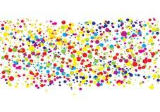 ljus färgrik designfärgpulversplat Royaltyfri Fotografi
