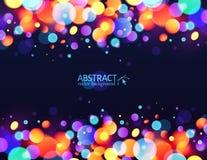 Ljus färgrik ferie för ljus effekt för bokeh stock illustrationer