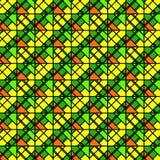 Ljus färgrik geometrisk modell Fotografering för Bildbyråer