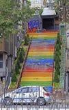 Ljus färgrik trappa i Istanbul Royaltyfri Foto