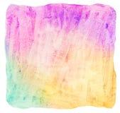 Ljus färgrik vattenfärgbakgrund stock illustrationer