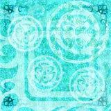 Ljus för abstrakt begrepp för BatikGrungetapet - blå bohem Arkivfoto