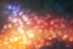 Ljus för bokeh för Abstrack bakgrund rosa och varma och livliga färger Arkivfoto